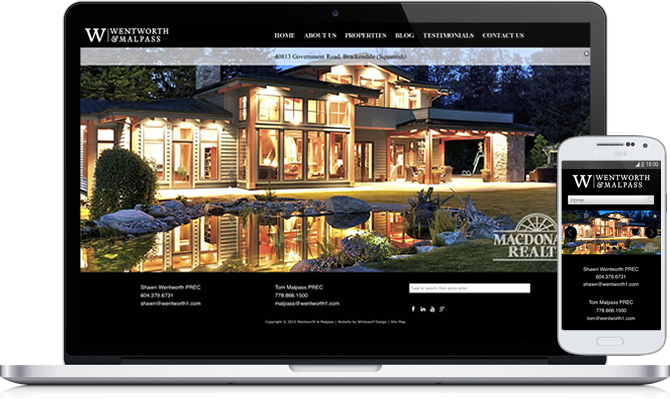 Headway Themes web development, Squamish
